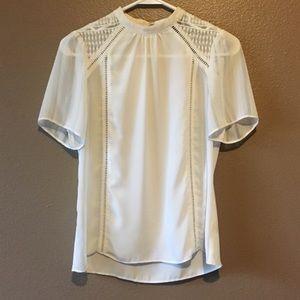 Express white Xs blouse